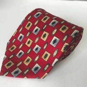 Bill Blass Wide Red  Kipper Tie